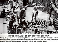 Marines Look for Dry Spot on Okinawa WWII Dispatch Photo News Service