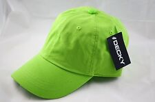 Decky Washed Polo Cap Baseball Caps Adjustable-lime Green