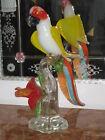 MASTERPIECE MURANO PARROT VENETIAN GLASS SCULPTURE BIRD RARE ONE OF A KIND