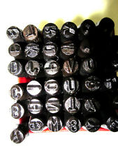 36pc NUMBER AND LETTER STEEL PUNCH SET NEW NO RES
