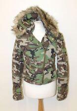BNWT RALPH LAUREN DENIM & SUPPLY Green Camo Hooded Asymmetric Zip Jacket M