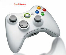 White Wireless Game Remote Controller for Microsoft Xbox360 Console FT