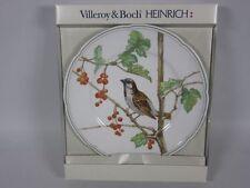 "V/B Heinrich: Jahresteller 1987 ""Passer domesticus"" ca.25,5 cm Ø + OVP   4T4367"