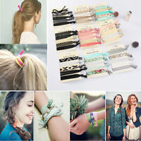 6pcs/set Practical Charm Hair Ties Women Elastic Ponytail Holder Hair Ties Ropes