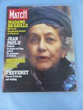 PARIS MATCH N° 1539 du 26 novembre 1978 MESRINE evasion JEAN-PAUL II , THEVENET