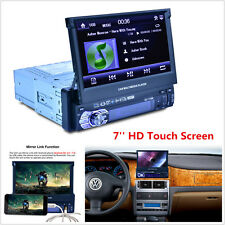 "7"" HD Touch Screen 1 DIN Car Stereo Video MP3 MP5 Player Bluetooth FM Radio AUX"