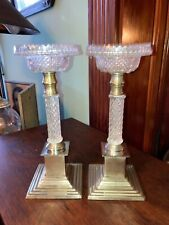 New listing Pair of Antique Clarke's Cricklite Fairy Lamp Stands