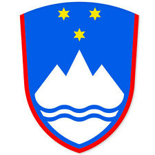 "SLOVENIA Coat of Arms bumper sticker decal 3"" x 5"""