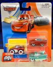 Disney Cars Mini Racers Crusin Lightning McQueen FLO  Red Ramone 3 Pack NEW