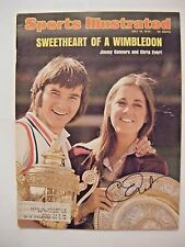CHRIS EVERT signed 1974 Sports Illustrated tennis magazine Autographed AUTO SI