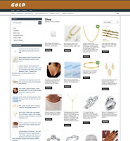 GOLD JEWELRY WEBSITE - 1 YEARS HOSTING - DOMAIN - EASY TO RUN