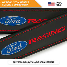 Seat Belt Covers Shoulder Strap Leather Pads Custom Made Fits Ford Racing 2PCS