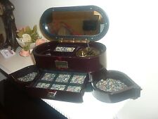 LOVE STORY!!VINTAGE MUSICAL JEWELLERY BOX ART DECO STYLE GOOD WORKING!