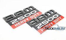 2 NEW (PAIR) MATTE BLACK DODGE RAM 2500 DOOR BADGES EMBLEMS SET CUMMINS 2500HD