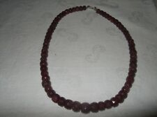 Natural Real Ruby Gemstone Necklace Cabochon Faceted Cut Gem Beads/String-Strand