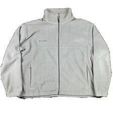 Columbia Mens Size XL Fleece Full Zip Jacket Solid Tan Pockets