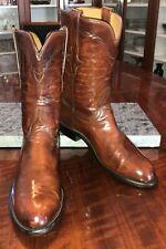 Lucchese Classics Original Bannock Roper Boots Size: 8.5D Color: Cognac