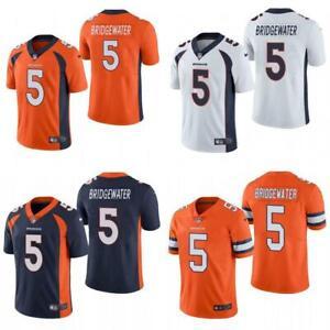 Teddy Bridgewater Broncos Men Game Jersey White / Navy / Orange / Rush