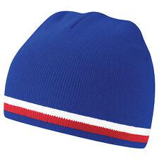 Bonnet sport marque Beechfield nation euro Foot FRANCE Bleu Blanc Rouge