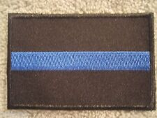 Thin Blue Line Patch Embroidered 3x2 Thin Blue Line Cops TBL Support Police