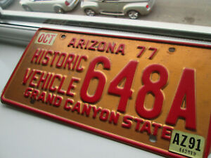 VINTAGE AMERICAN LICENSE PLATE FROM ARIZONA [COPPER]