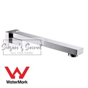 WELS Chrome Brass Square Swivel Bathroom Shower Bath Spa Spout Wall Mount