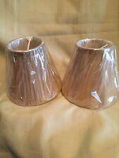 Two Beige Chandelier Bell Shape Lamp Shades 3.25 X 5.25 X 6