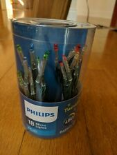 Philips Twinkling LED Battery Operated 18 Multi color Micro lights