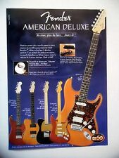 PUBLICITE-ADVERTISING :  Guitares FENDER American Deluxe  05/2004