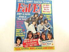 FAVE MAGAZINE JUL 1973 EXCELLENT CONDITION CASSIDY, SHERMAN, OSMONDS, DEY & MORE