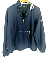 Roots Canada Mens Golf Windbreaker Long Sleeve Pullover Size XL Blue