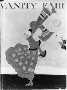 Photo:Cover of Vanity Fair,January 1916: Girl iceskating 4146