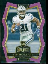 2016 Panini Select Ezekiel Elliott Premier Level Purple Prizm 49/75 RC Cowboys