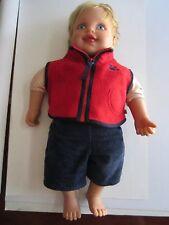 "Build A Bear Workshop Boy Doll - Blue Eyes - 20"" Long - See Pics - Nice Condit."