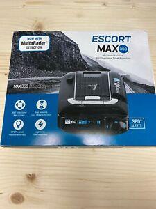 ESCORT MAX 360 Laser Radar Detector GPS Dual Antenna Bluetooth - EXCELLENT COND
