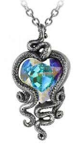 Alchemy England - Heart of Cthulhu Pendant Necklace, Gothic, Tentacles, Crystal