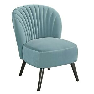 BRAND NEW Luxury Velvet Accent Chair with Shell Back and Wooden Legs 3 COLOURS