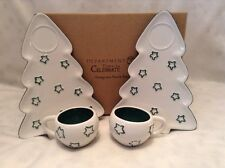 RETIRED DEPT 56 TIME TO CELEBRATE CHRISTMAS EVERGREEN SNACK SET PLATE MUG