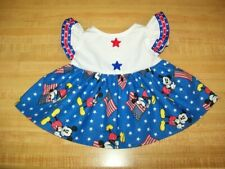 "DISNEY 4TH JULY MICKEY MOUSE DRESS W/STAR BUTTONS for 16"" CPK Cabbage Patch Kids"