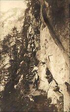 Ennseck Oberösterreich Austria AK 1922 Wasserfallweg zur Hesshütte Echtfoto-AK
