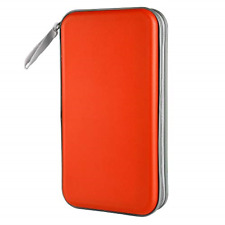 80 Capacity Heavy Duty CD/DVD Wallet Binder Storage Case Bag Holder Booklet Red