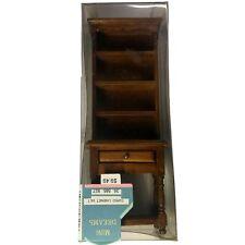 NIB Dollhouse Miniatures MINI DREAMS Curio Cabinet Walnut (35 585 927)