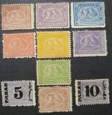 EGYPT 1872-79 3rd ISSUE Full SET 10 UNUSED PERF STAMPS SC#19-28 MLH Wmk SCV $720