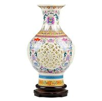 Unique Jingdezhen Ceramic Pierced Vase Chinese Porcelain Antique Reproduction #A