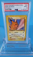 2000 Pokemon World Collection *Snap Pikachu* Spanish Promo #26 Graded Psa-9 Mint