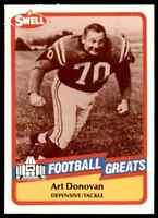 1989 Hall of Fame RED #62 Art Donovan HOF RARE Baltimore Colts / Boston College