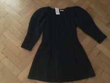 NWT Brigitte Bardot New & Genuine Ladies Size 8/10 UK Black Cotton Dress