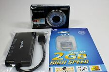 Olympus FE FE-46 12.0MP Digital Camera - Black with Memory Card and Card Reader