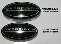 RANGE ROVER VOGUE L322 GENUINE OVERFINCH INTERIOR DOOR BLACK BADGES X2 PAIR