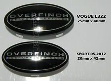 RANGE Rover Vogue l322 interna sportello ORIG Overfinch distintivi NERO COPPIA x2